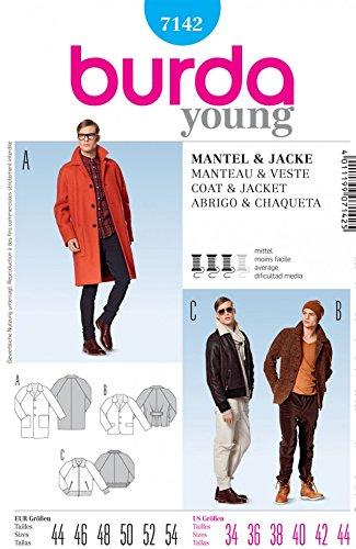 Burda Mens Sewing Pattern 7142 Classic Coats & Jackets