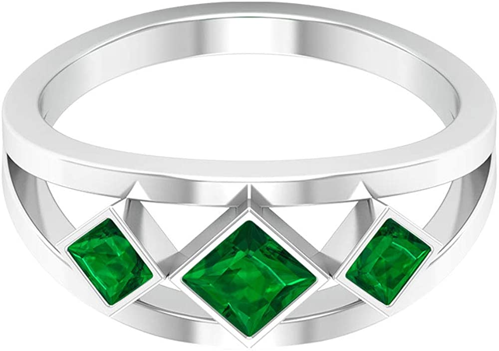 Quantity limited 0.61 Ct SGL Certified Emerald Statement Ring Wedding T Department store Diffused
