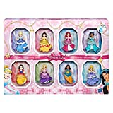 Disney COS1312433 Princess Small 8 Dolls Collection Juego de Estilos Brillantes con Vestidos de Clip