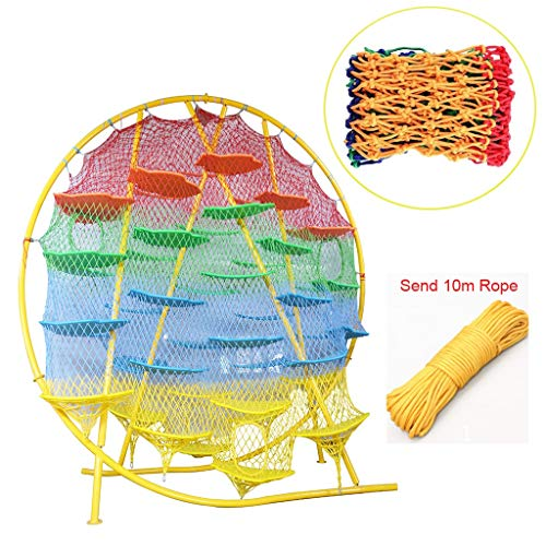 Color Child Safety Nets, Decorative Net Trailer Nets Stair Balcony Railing Net Playground Climbing Net Pet Barrier Net, Material Nylon Rope(Multi-size) (Color : 6cm Mesh, Size : 3 * 8M)
