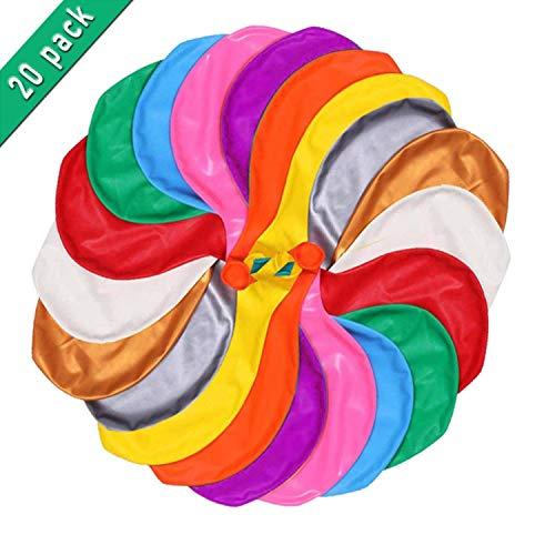 Miamasvin 20 Stück Grosse Luftballons Bunt 100cm, 36 Zoll Luftballon Helium, Latex Riesige Ballon Dekoration für Hochzeit Geburtstag Taufe Babyparty Kinder Party Festival (10 Farbe)