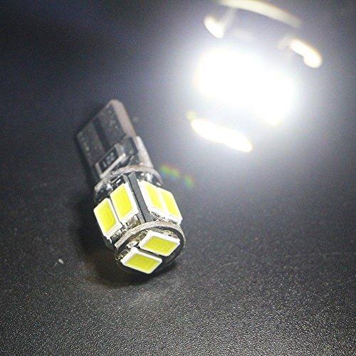 eforlighting 2pcs Blanco Frío 12V DC Canbus Libre De Errores T10563010SMD cuña Bombilla W5W 1941682825Luz Interior luz de cúpula de luz Coche Ancho lámpara lámpara de lectura