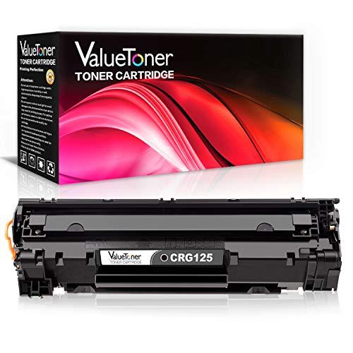 ValueToner Compatible 125 Toner Cartridge Replacement for Canon 125 (3484B001AA) 1 Black Toner Compatible with Canon ImageClass MF3010, LBP6030w, LBP6000 Printer