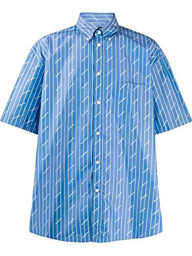 Luxury Fashion | Balenciaga Heren 534332TGLB95531 Blauw Polyester Overhemden | Lente-zomer 20