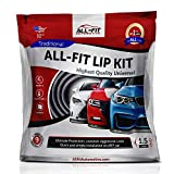 All-Fit Automotive 1.5 Inch Universal Bumper Lip Splitter Kit - Chin Spoiler Protector for Front or Rear - Lips Protect and Cover Lower Bumper for a Dropped Look - Universal Fit - Red