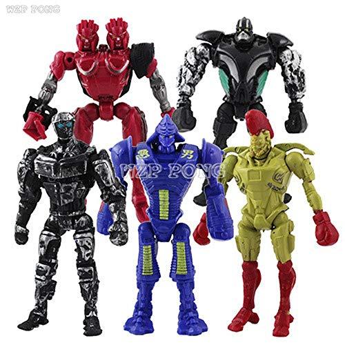 5pcs/Set 12 cm Real Steel Atom Midas Noisey Zeus Toy Figure Set