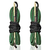 223 556 .22 Cal Bore Snake (2 Pack), ecoeceo Gun Bore Cleaner Snake for Rifle Pistol Shotgun Bore Cleaning for 12 GA 380 9 mm 308 Caliber Quick Cleans (2020