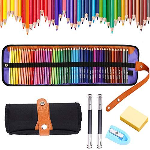 72 Buntstifte Set,Zeichnen Bleistifte Art Set für Professionelle Farbmischung Malen und Skizzen, Malbücher für Erwachsene Schüler Kinder