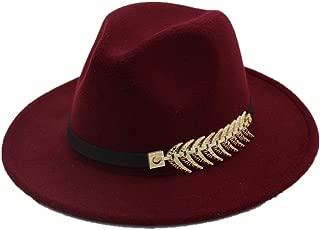Hat Size 56-58CM New Men Women Wide Brim Fedora Hat Travel Autumn Church Party Hat Cloche Travel Casual Fascinator Hat Fashion Hat