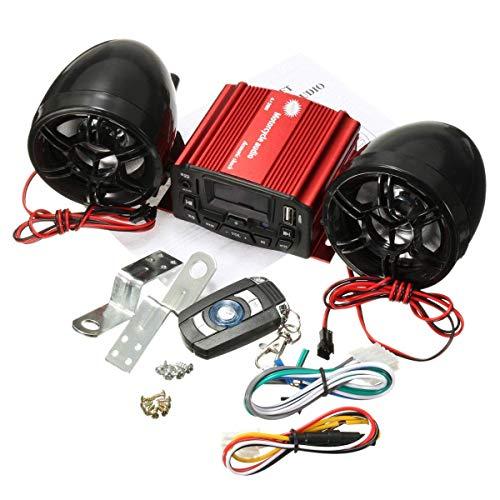 BINGFANG-W Motocicleta Impermeable Anti Robo Alarma MP3 Remoto Contro Altavoz Amplificador de Audio de Alta Potencia Sistema de Sonido Tabla de Control