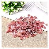 TZZD Cristal natural de cuarzo rosa mineral de piedra mineral de espécimen natural colorido cuarzo para acuario piedra decoración del hogar DIY (color: cristal de fresa, tamaño: 30 g)
