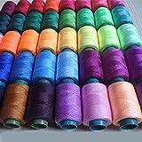 Suave, duradero, 40 unids / dia.0.5mm 90 m / roll multicolor 20/3 bordado de poliéster hilo de costura de hilo de costura de costura de costura para hechos a mano para manualidades de bricolaje punto
