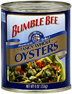 Bumble Bee Oysters Whole Net Wt 8 Oz