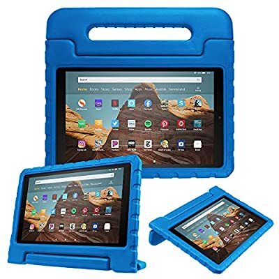 Fintie Shock Proof Case for All-New Fire HD 10 Tablet (7th Gen, 2017 Release) - Kiddie Series Convertible Handle Stand Kids Friendly Cover