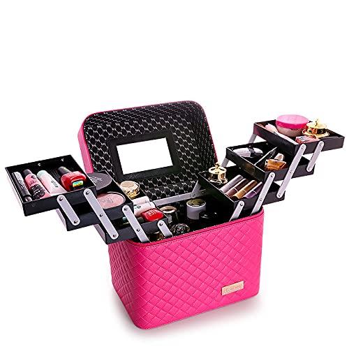 FYLYHWY Borsa per Il Trucco Multistrato da Donna Grande capacità Professionale Sacchetto Cosmetico per Cosmetici Borse da Toeletta Moda Valigie (Color : 2)