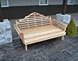 ASPEN TREE INTERIORS Best DAYBED for Home Furniture & Patio Seating, 3 Person Bench, Cedar Lutyens Style Outdoor Day Bed, Unique Outside Decor, Amish Made in US, 6 Foot