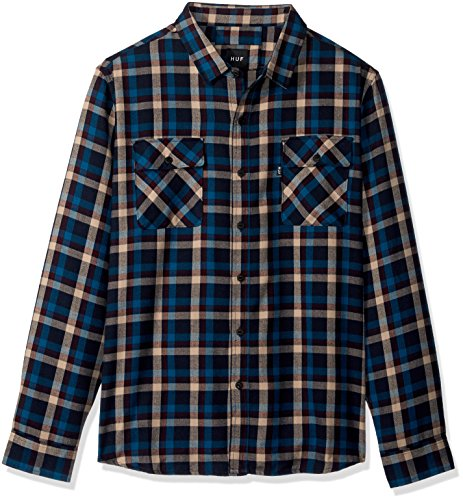 HUF Taylor Flanellhemd für Herren, rot, Klein