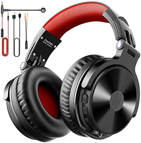 Casque Bluetooth 80 Heures d'Autonomie OneOdio Casque Audio Hi-FI avec Microphone Antibruit Compatible Smartphone PC Ordinateur Portable