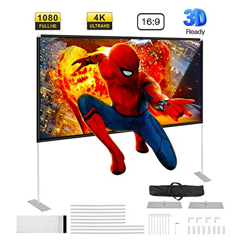Powerextra Pantalla de Proyector 100 Inch 16:9 HD - Pantalla...