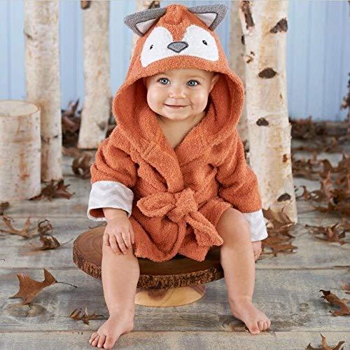 IAMZHL 0-6T Albornoz para bebé con Modelado de Animales con Capucha/Toalla de SPA para bebé de Dibujos Animados/Bata de baño para niños con Personajes/Toallas de Playa para niños-Fox-3-6