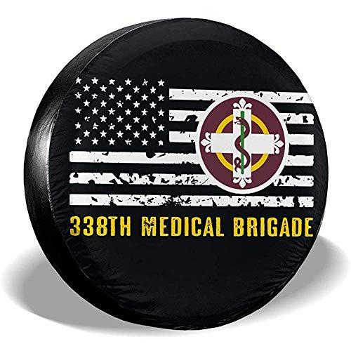LYMT 338th Medical Brigade vervangende bandenafdekking universele bandenafdekking voor RV SUV aanhanger toebehoren voor het vervoer van vrachtwagens