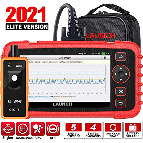LAUNCH OBD2 Scanner CRP129X Scan Tool ABS SRS Engine Transmission Code Reader Oil Reset EPB SAS TPMS Throttle Body Reset Diagnostic Tool Android 7.0 AutoVIN Lifetime Free Update Carry Bag TPMS as Gift