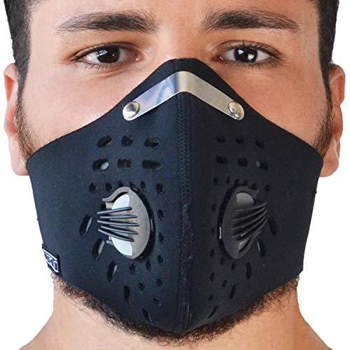 TJ MARVIN Masque anti-buée en néoprène avec filtres...