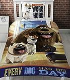 Character World Vida Secreta de Mascotas Solo Panel Funda nórdica Cama, diseño con Perros Cada Perro Tiene su día.
