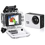 Fusiontec Underwater Mini Action Camera,Full HD 1080P 12MP Dv Camera Underwater 30M,140 Degree Wide-Angle Sports Camera with Multi Accessories