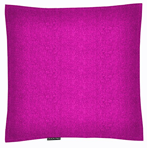 SIMON PIKE Kissen Riga 40 x 40 cm Wollfilz pink