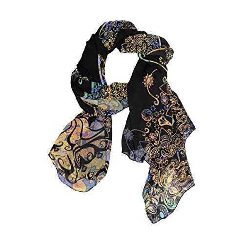 NaiiaN 90x180 CM Chal Bufanda Envolturas para la cabeza Estampado Pañuelo cuadrado Ligero para Mujeres Niñas Señoras Favor Caballo Floral Hermoso Unicornio