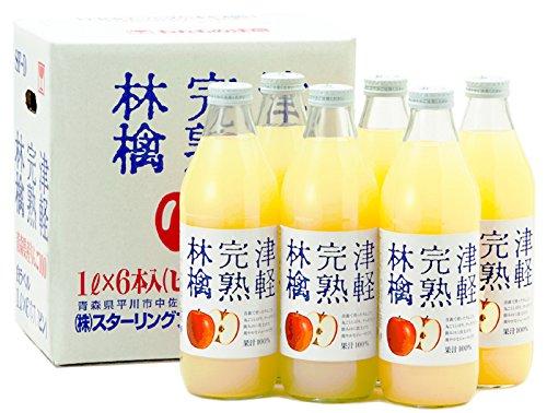 スターリングフーズ『津軽完熟林檎ジュース 白ラベル』