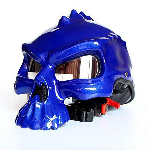 Männer Motorrad Helm Teenager Schädel atmungsaktive Harley Motorrad Helme mit Brille Motocross Zubehör Kinder Weihnachten