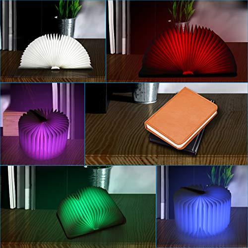 Aibesser Faltbare Buch Lampe LED Buchlampe PU-Leder - 6