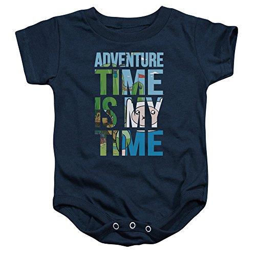 Adventure Time - - Toddler My Time Onesie, 12 Months, Navy
