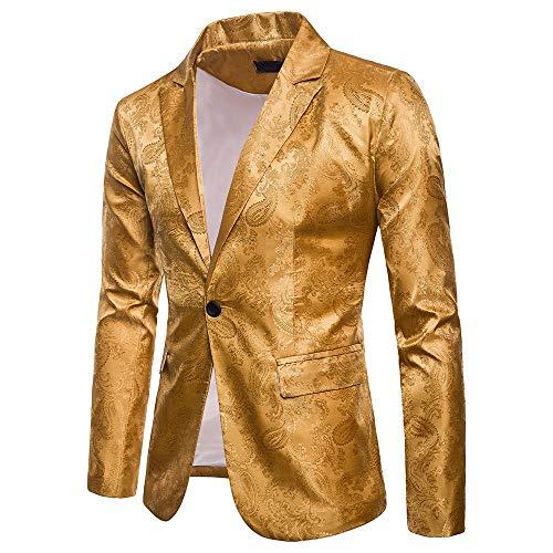 FRAUIT Mannen Casual Blazer Mannen Casual 1 Button Fit Pak Blazer jas pailletten Party Top Suits Charm mannen Casual Fit pak blazer mantel M-3XL
