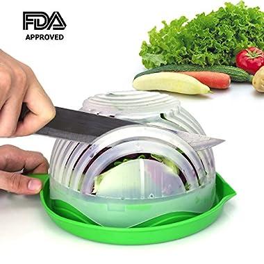 Salad Cutter Bowl 60 Seconds Salad Maker by WEBSUN Easy Fruit Vegetable Cutter Bowl Fast Fresh Salad Slicer Salad Chopper