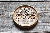 Ringschale aus Holz mit gravierten Namen