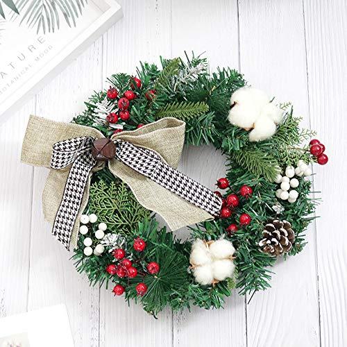 VijTIAN - Ghirlanda natalizia per porta, 30 cm, ideale da appendere alla porta o alla parete C