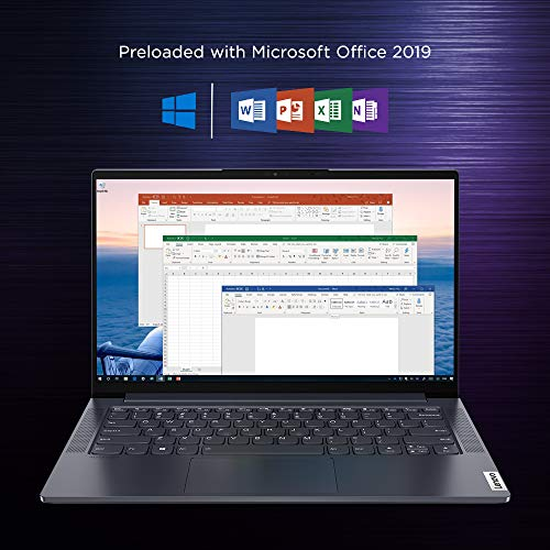 Lenovo Yoga Slim 7i 10th Generation Intel Core i7 14 inch FHD Thin and Light Laptop (8GB/512GB/Windows 10/MS Office/NVIDIA MX350 Graphics/Grey/1.55Kg), 82A1009KIN