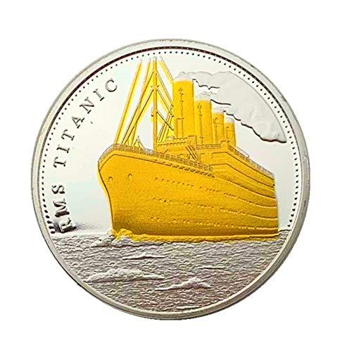 Moneda Titanic 100 años de Cumpleaños Preciosa Ficha rera Regalo conmemorativo para Coleccionar