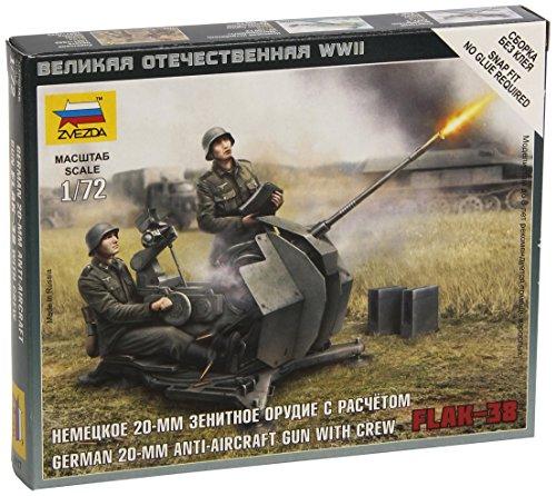 German 20 mm Anti-Aircraft Gun with Crew Flak-38