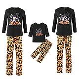Pigiama per Halloween con zucca patchwork lunga maglietta + pantaloni per Halloween, 2 pezzi, per donne, uomini, bambini, famiglia, pigiama, mamma e papà, ^^, S