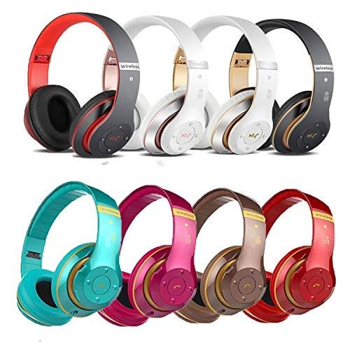 Vokmon 6S Auriculares inalámbricos con cancelación de Ruido Plegable del Auricular de Bluetooth Stereo Headset Ruido Ordenador teléfono sobre el Auricular del oído, Negro Oro