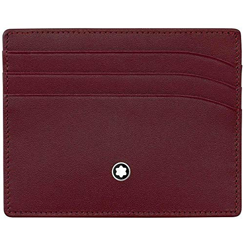 Montblanc Meisterstück MST Pocket 6cc Burgundy - Funda para Tarjetas de Visita, Color Burdeos