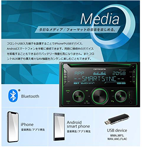 カロッツェリア(パイオニア)カーオーディオ2DINCD/USB/BluetoothFH-4600