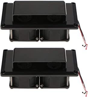Perfk 2PCS Inner Side Exhaust Fan Vent 12V for Caravan Camper Trailer RV Parts Accessories - Black