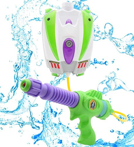 ZYC-WF Toy Story Buzz Lightyear Water Blaster Backpack   Large Capacity Portable Water Pistol with Adjustable Straps   Kids Outdoor Toy Water Gun from Age 3+