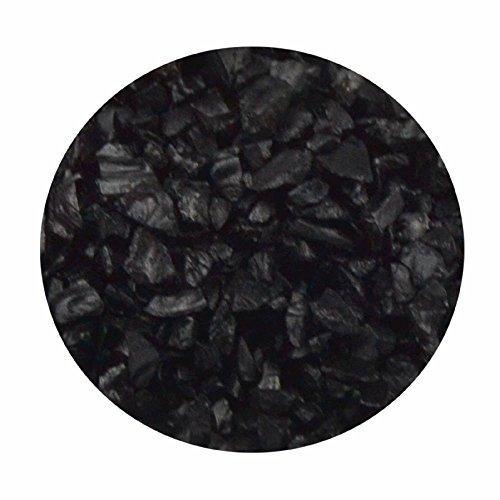Glasgranulat schwarz 1kg 2-4 mm Dekogranulat