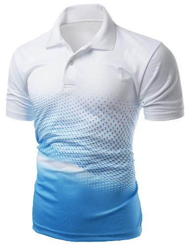 Mens Cool Max Fabric Printed Polo T-Shirt